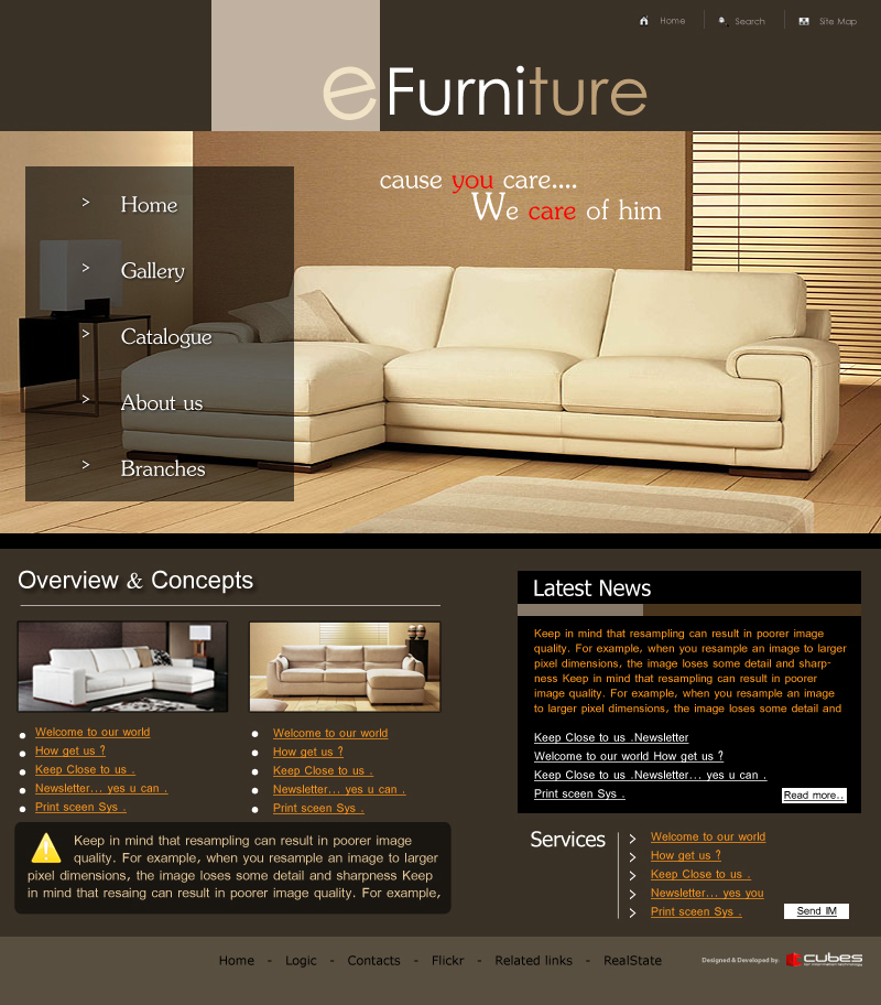 Furniture Web Sites: Cubes-IT For Web Solutions